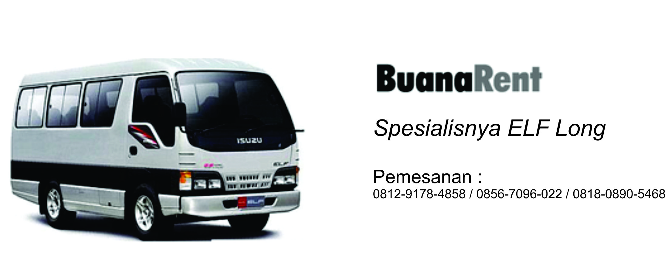buana rent car - spesialisnya elf long
